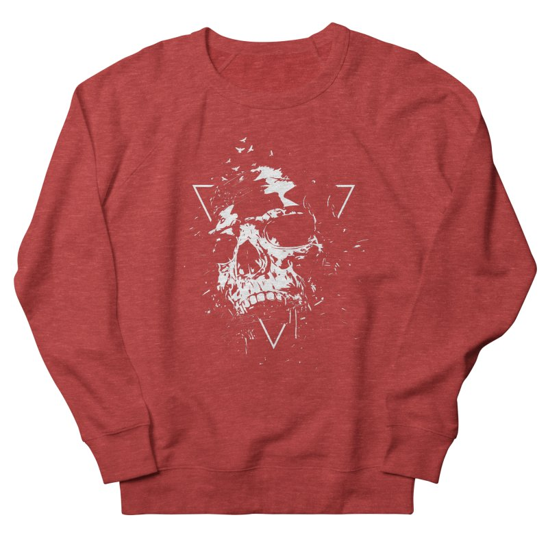 Skull X (bw) Women's French Terry Sweatshirt by Balazs Solti