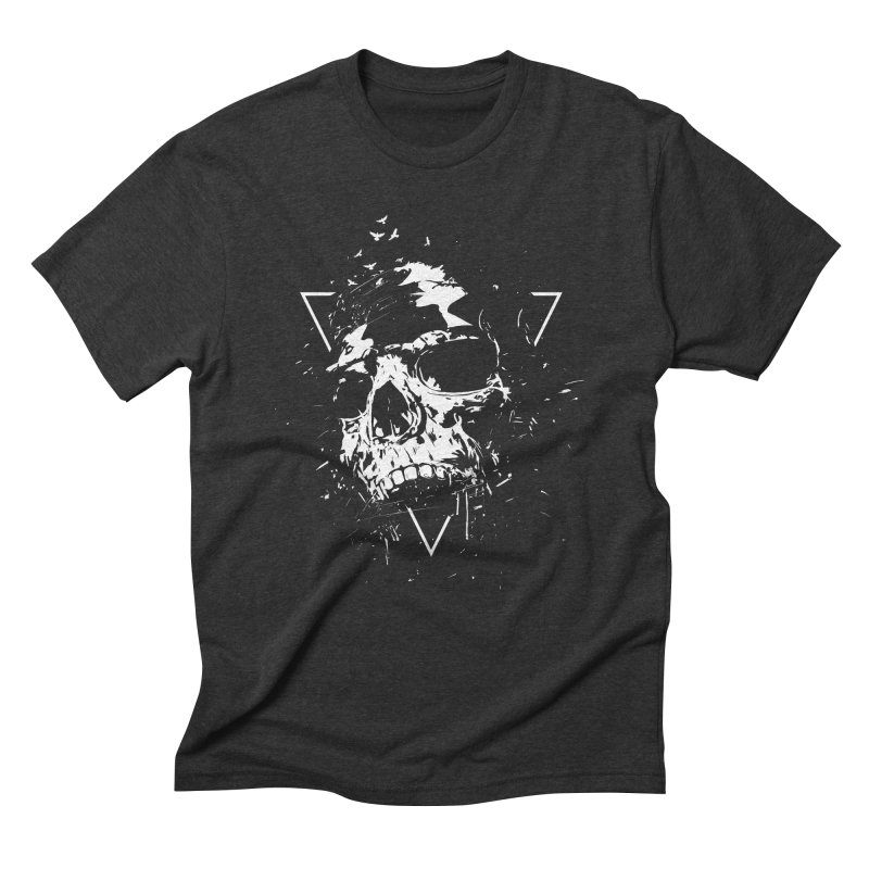 Skull X (bw) Men's Triblend T-Shirt by Balazs Solti
