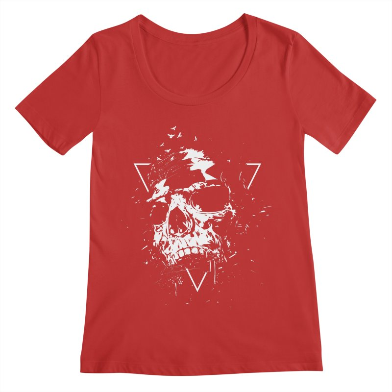 Skull X (bw) Women's Regular Scoop Neck by Balazs Solti