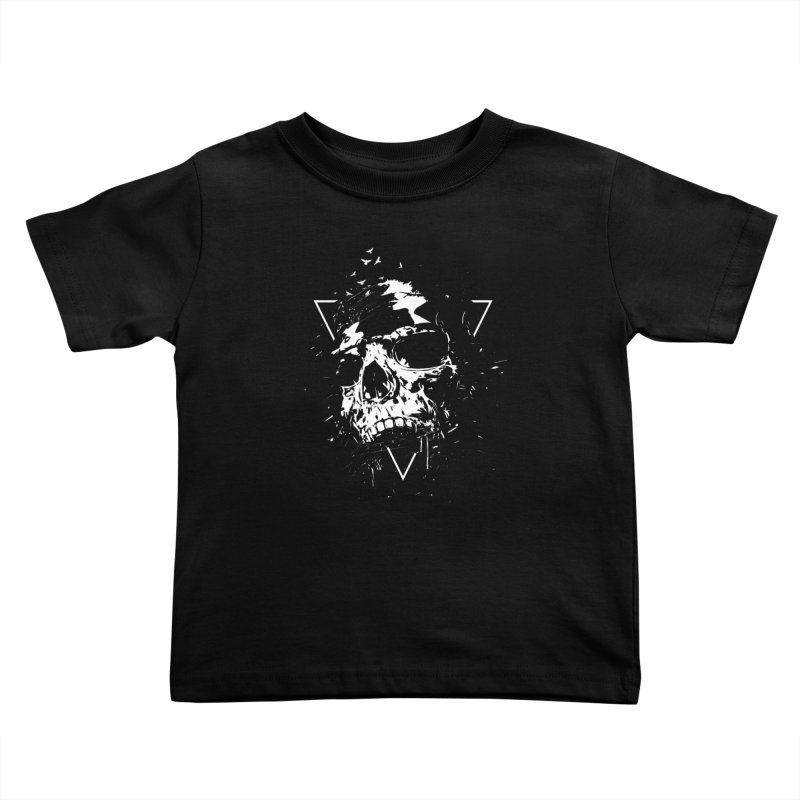 Skull X (bw) Kids Toddler T-Shirt by Balazs Solti