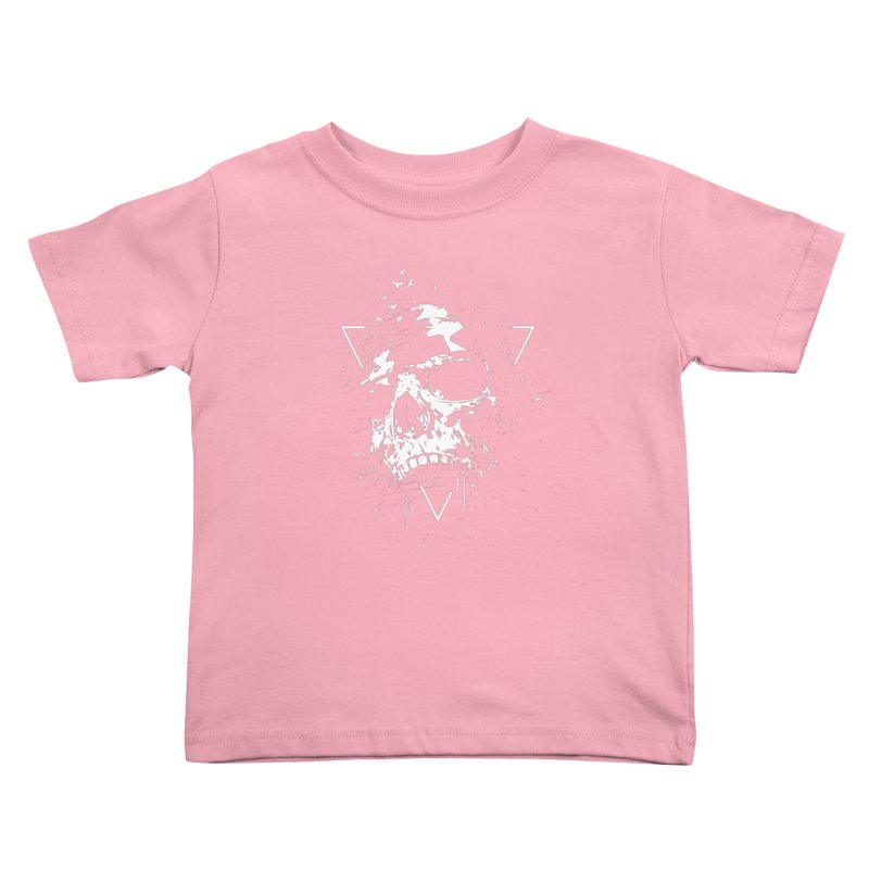 Skull X (bw) Kids Toddler T-Shirt by Balazs Solti