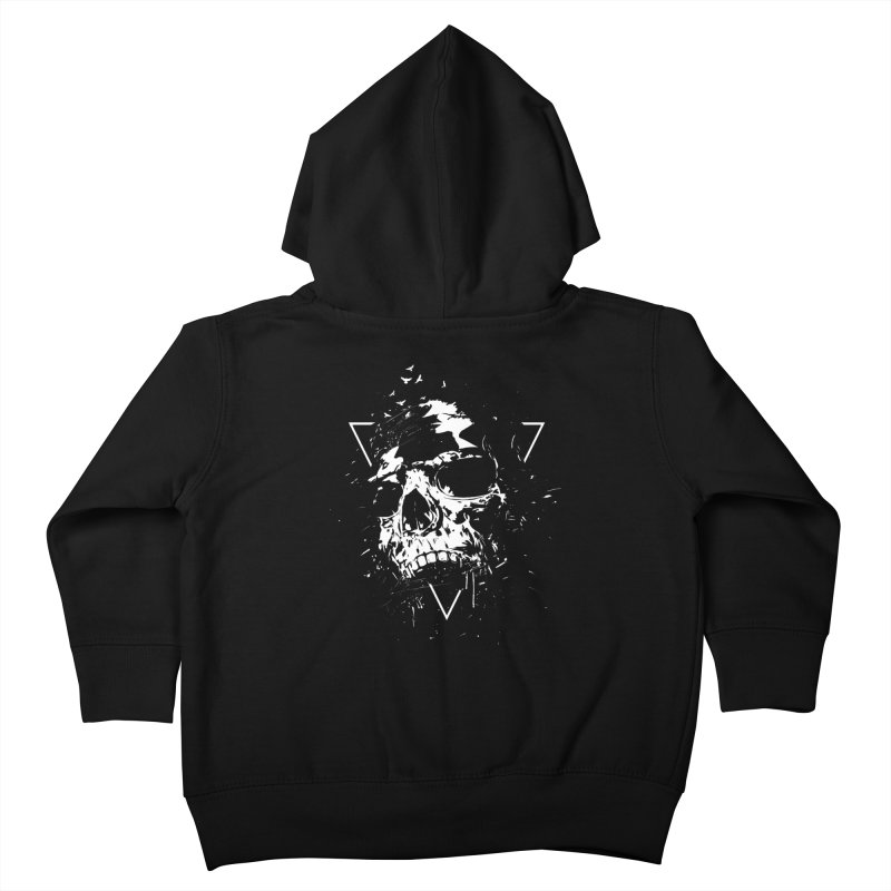 Skull X (bw) Kids Toddler Zip-Up Hoody by Balazs Solti