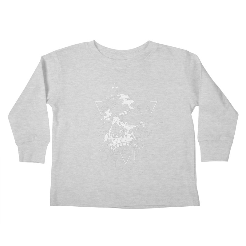 Skull X (bw) Kids Toddler Longsleeve T-Shirt by Balazs Solti
