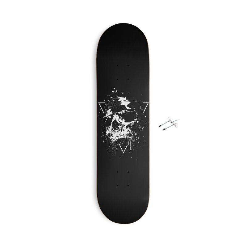 Skull X (bw) Accessories With Hanging Hardware Skateboard by Balazs Solti