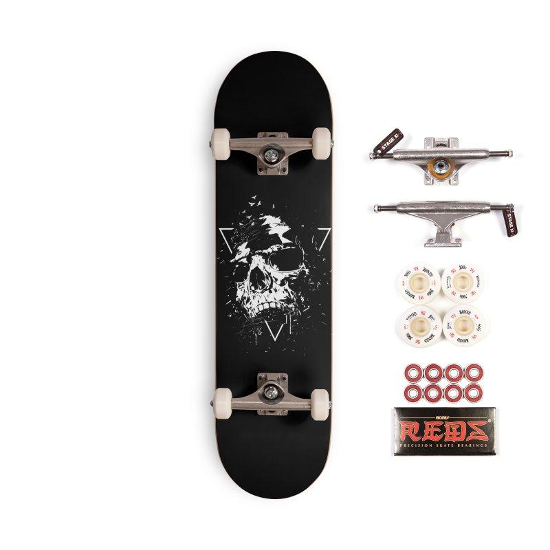 Skull X (bw) Accessories Skateboard by Balazs Solti