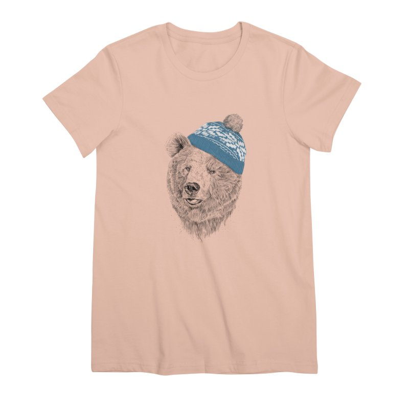 Hello Winter Women's Premium T-Shirt by Balazs Solti