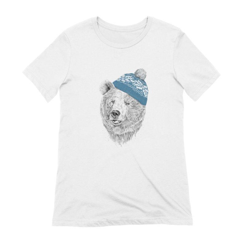 Hello Winter Women's Extra Soft T-Shirt by Balazs Solti