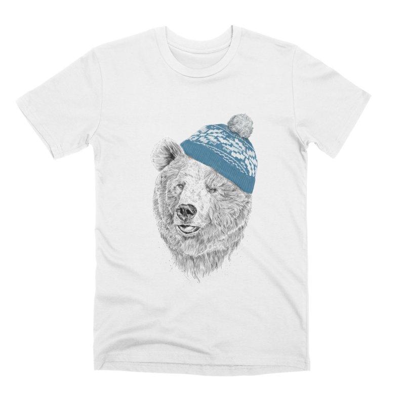 Hello Winter Men's Premium T-Shirt by Balazs Solti