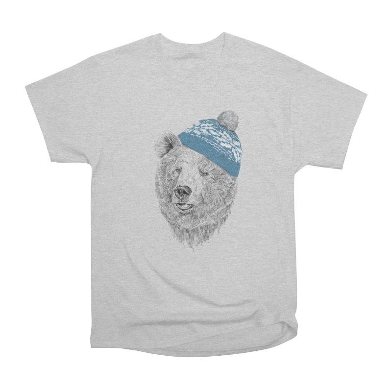 Hello Winter Men's Heavyweight T-Shirt by Balazs Solti