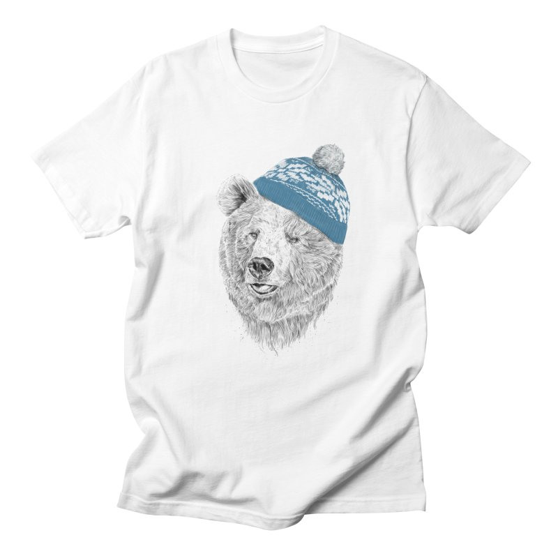 Hello Winter Men's Regular T-Shirt by Balazs Solti