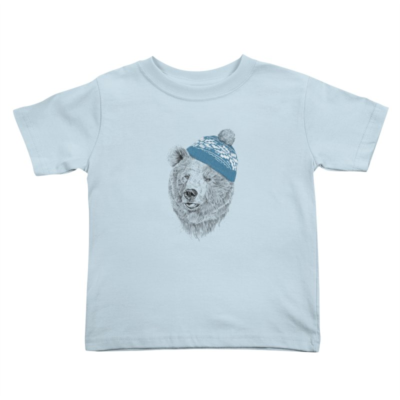 Hello Winter Kids Toddler T-Shirt by Balazs Solti