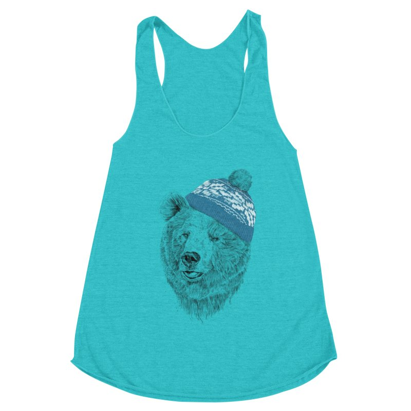 Hello Winter Women's Racerback Triblend Tank by Balazs Solti