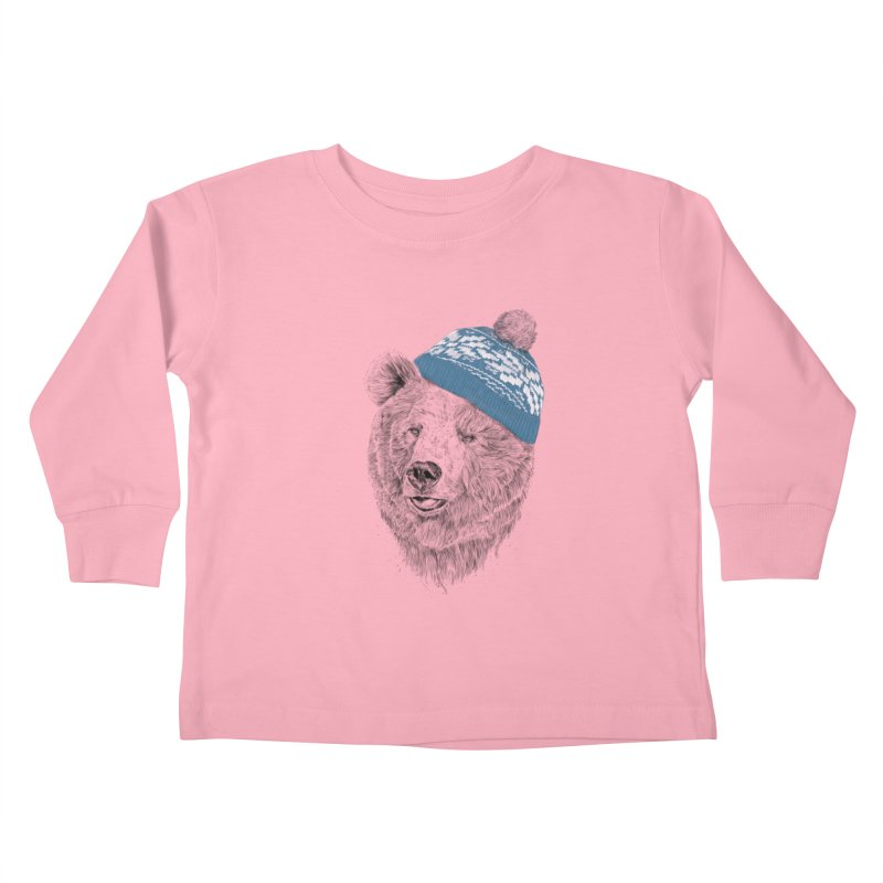 Hello Winter Kids Toddler Longsleeve T-Shirt by Balazs Solti