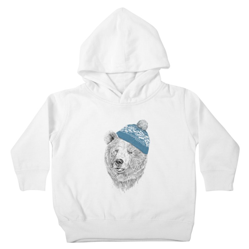 Hello Winter Kids Toddler Pullover Hoody by Balazs Solti