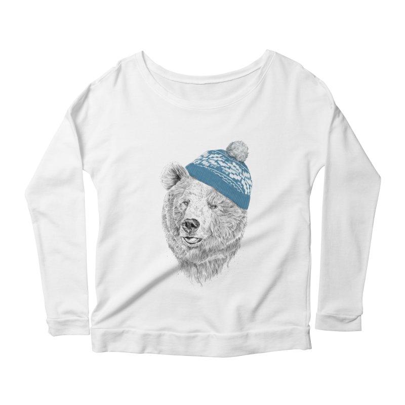Hello Winter Women's Scoop Neck Longsleeve T-Shirt by Balazs Solti