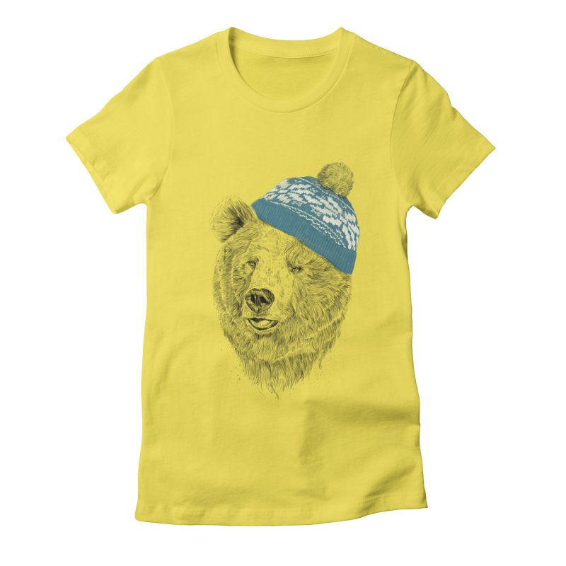 Hello Winter Women's T-Shirt by Balazs Solti