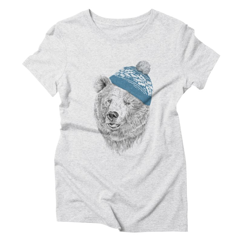 Hello Winter Women's Triblend T-Shirt by Balazs Solti