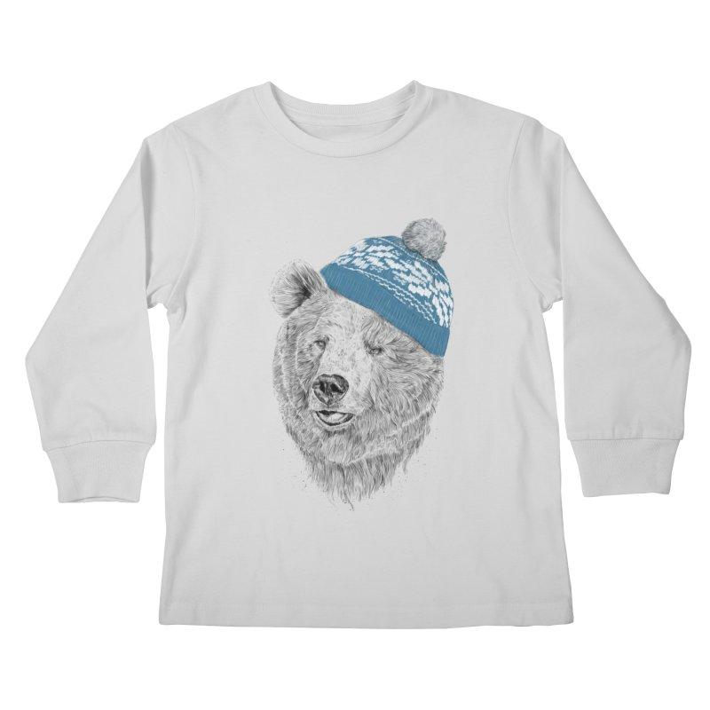 Hello Winter Kids Longsleeve T-Shirt by Balazs Solti