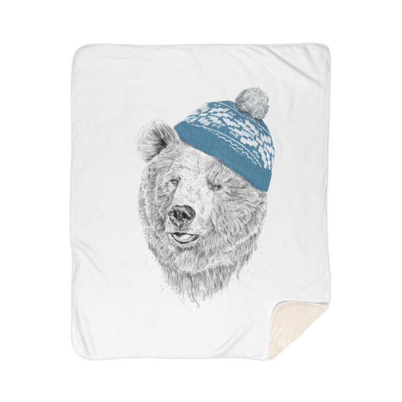 Hello Winter Home Sherpa Blanket Blanket by Balazs Solti
