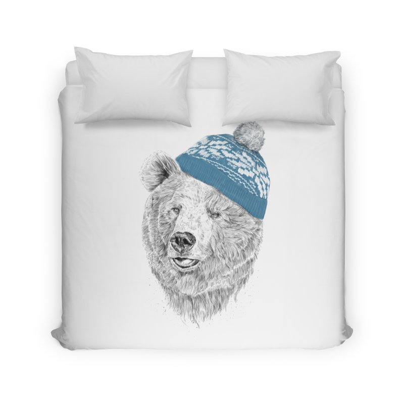 Hello Winter Home Duvet by Balazs Solti