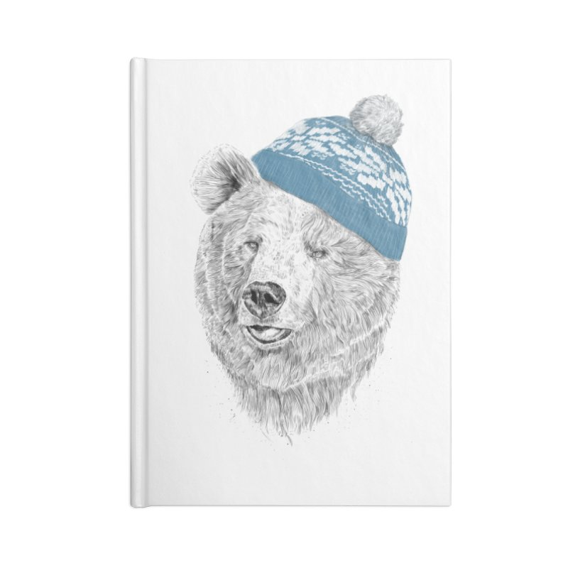 Hello Winter Accessories Blank Journal Notebook by Balazs Solti