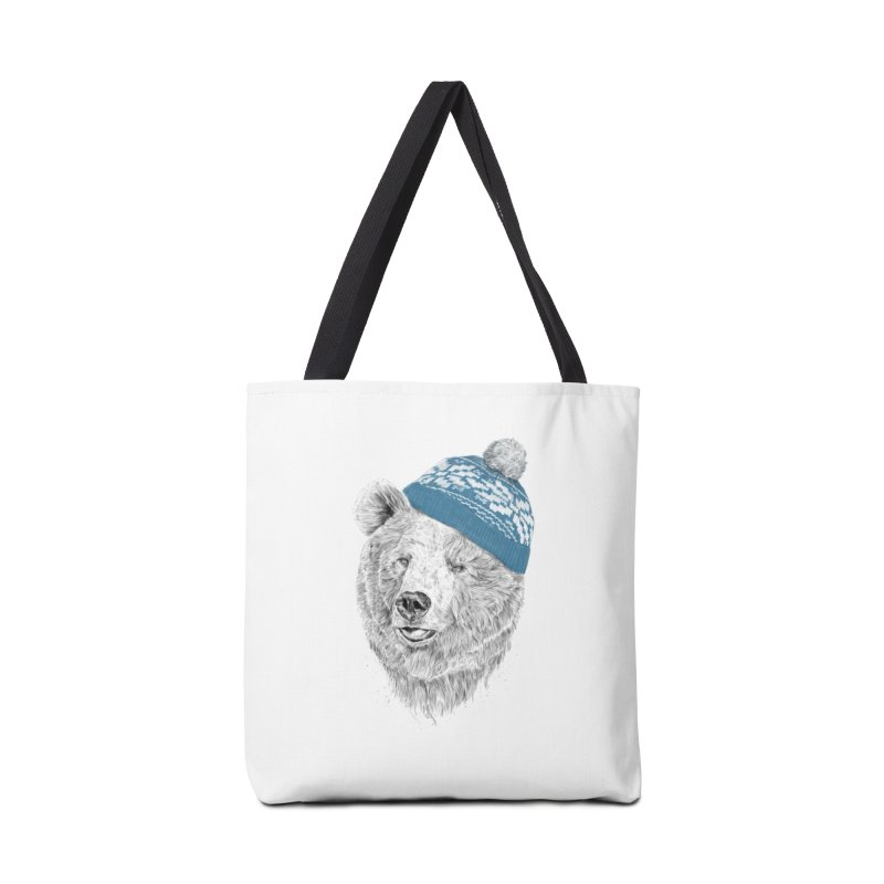 Hello Winter Accessories Tote Bag Bag by Balazs Solti
