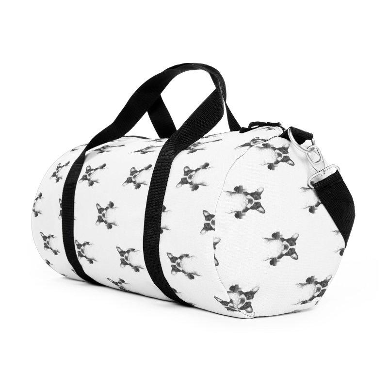 Censored dog Accessories Duffel Bag Bag by Balazs Solti
