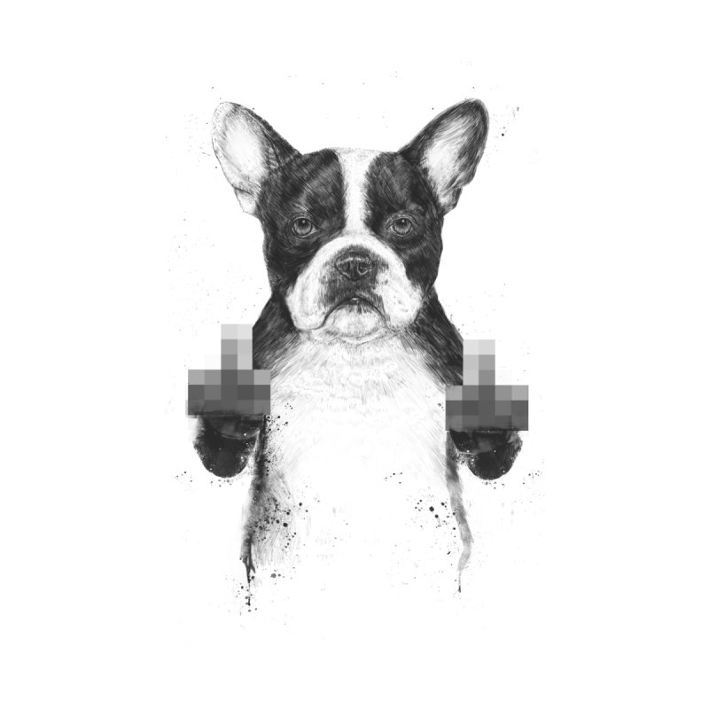Censored dog Home Throw Pillow by Balazs Solti