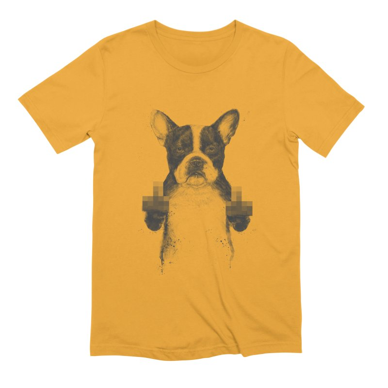Censored dog Men's Extra Soft T-Shirt by Balazs Solti