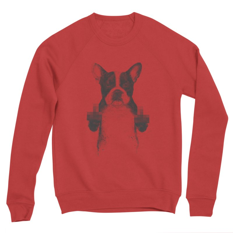 Censored dog Women's Sponge Fleece Sweatshirt by Balazs Solti