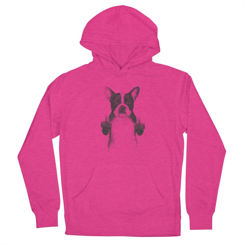 Censored dog Women's French Terry Pullover Hoody by Balazs Solti