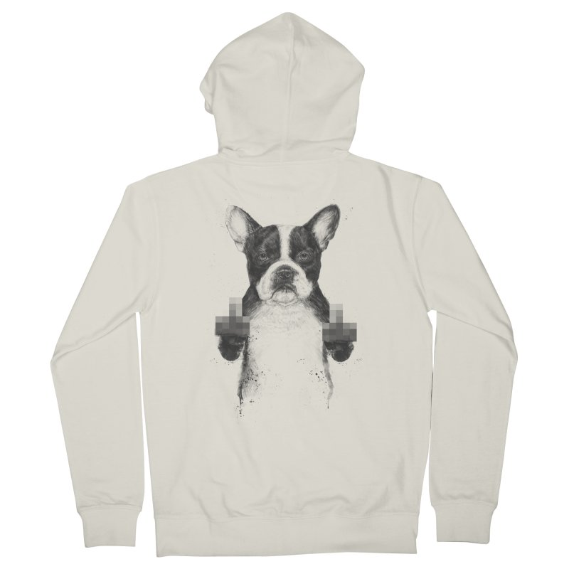 Censored dog Women's French Terry Zip-Up Hoody by Balazs Solti