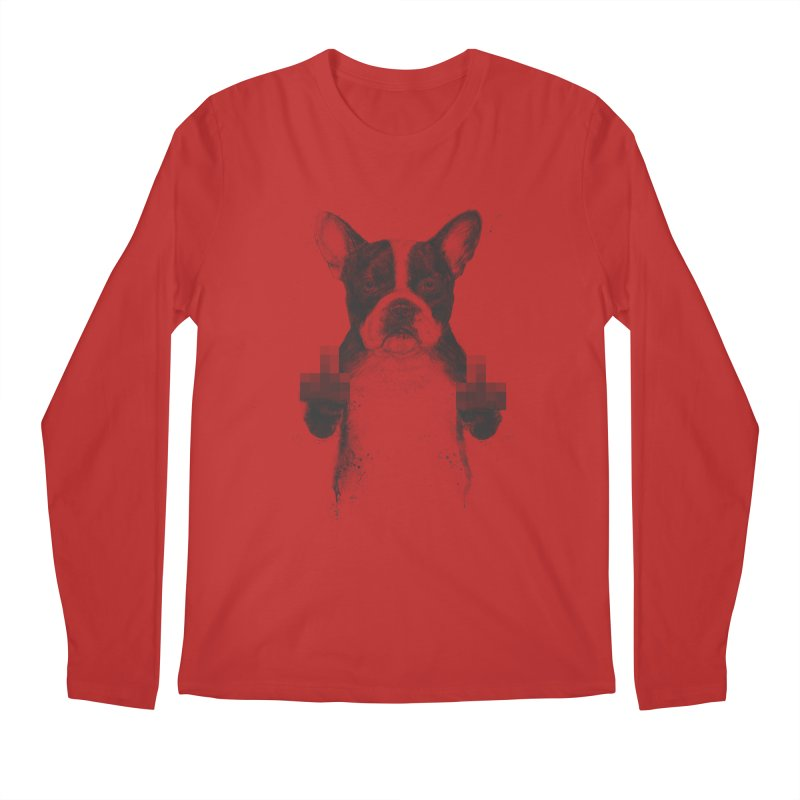 Censored dog Men's Regular Longsleeve T-Shirt by Balazs Solti