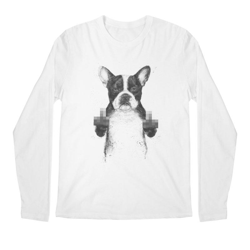 Censored dog Men's Regular Longsleeve T-Shirt by Balazs Solti