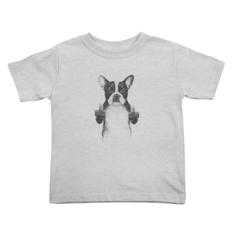Censored dog Kids Toddler T-Shirt by Balazs Solti