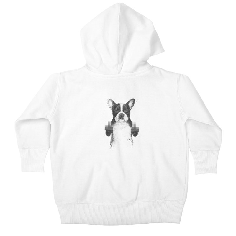 Censored dog Kids Baby Zip-Up Hoody by Balazs Solti