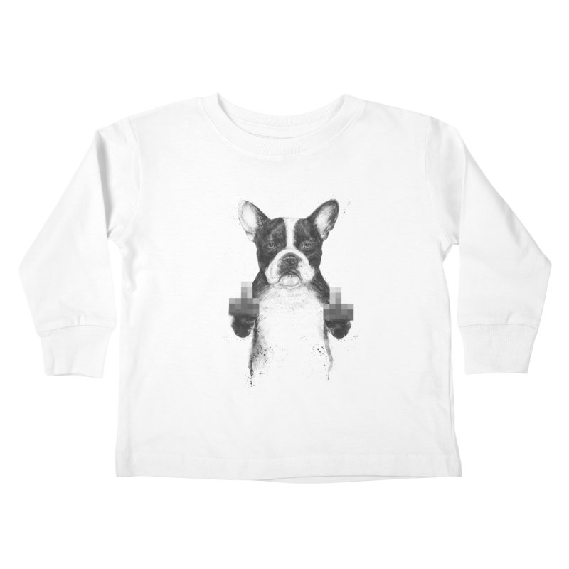 Censored dog Kids Toddler Longsleeve T-Shirt by Balazs Solti
