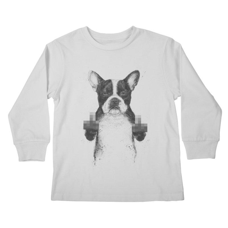 Censored dog Kids Longsleeve T-Shirt by Balazs Solti