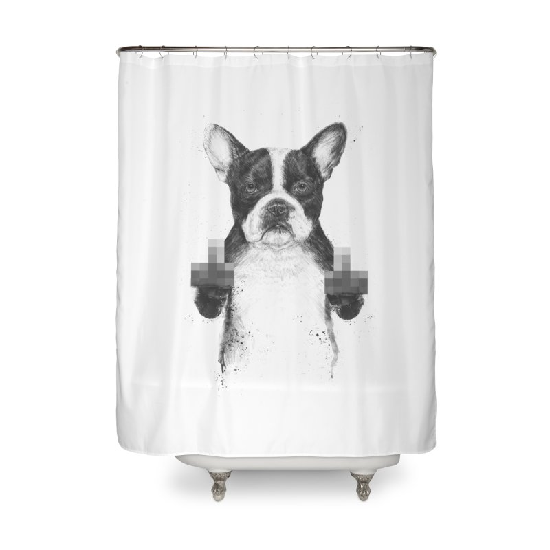 Censored dog Home Shower Curtain by Balazs Solti