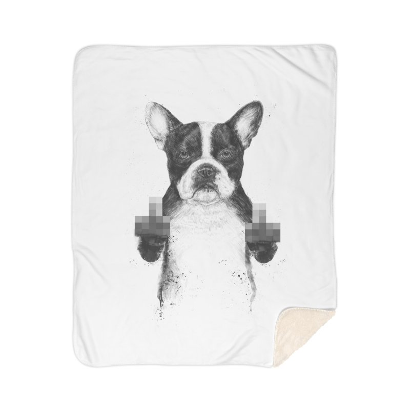 Censored dog Home Sherpa Blanket Blanket by Balazs Solti