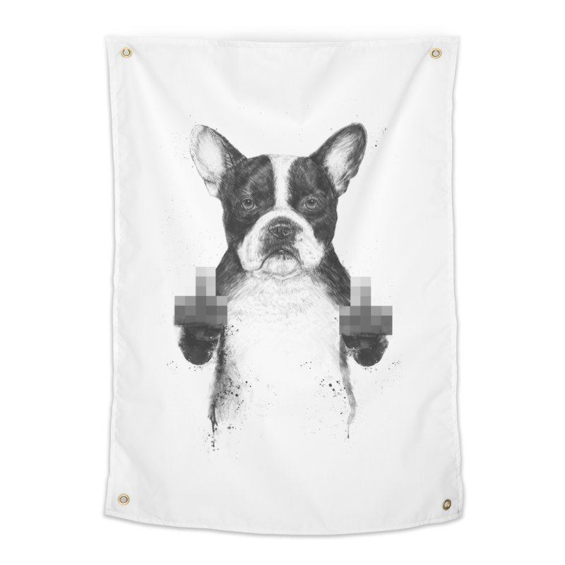 Censored dog Home Tapestry by Balazs Solti