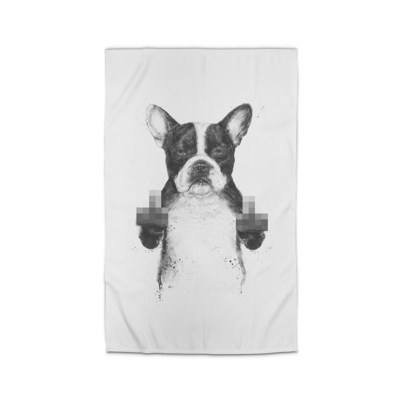 Censored dog Home Rug by Balazs Solti