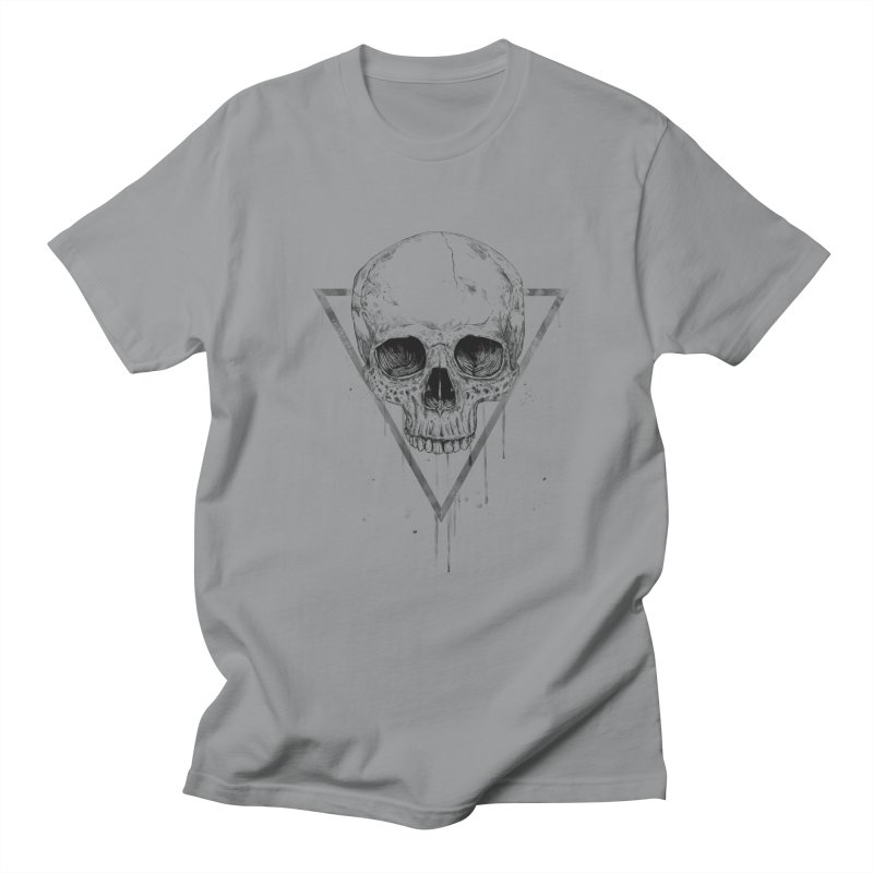 Skull in a triangle (bw) Women's Regular Unisex T-Shirt by Balazs Solti