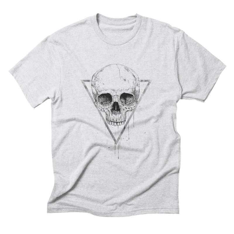 Skull in a triangle (bw) Men's Triblend T-Shirt by Balazs Solti