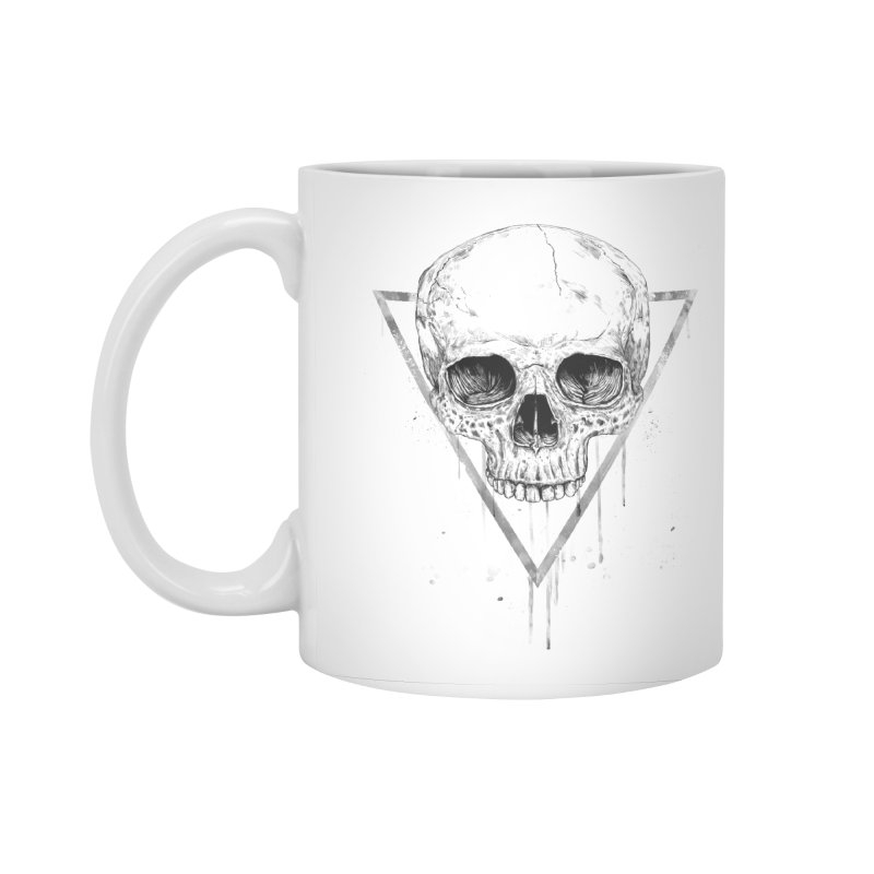Skull in a triangle (bw) Accessories Standard Mug by Balazs Solti