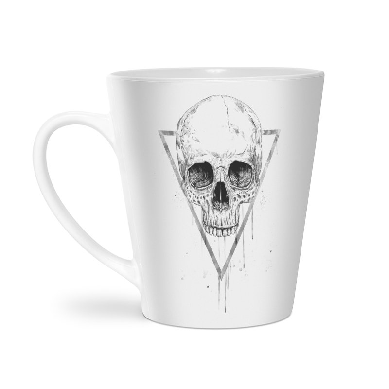 Skull in a triangle (bw) Accessories Mug by Balazs Solti