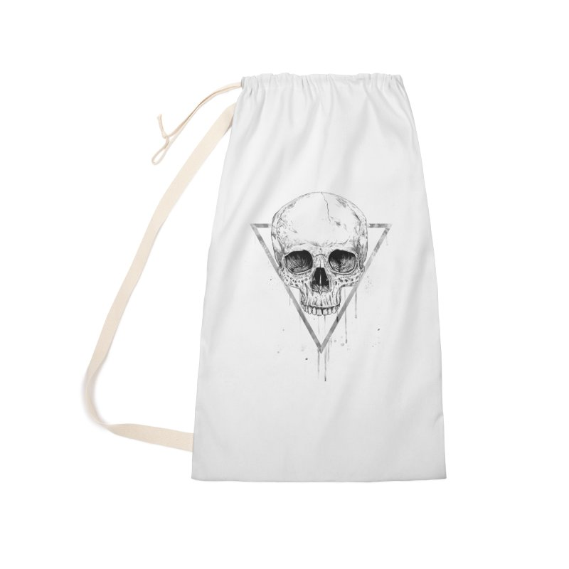 Skull in a triangle (bw) Accessories Laundry Bag Bag by Balazs Solti