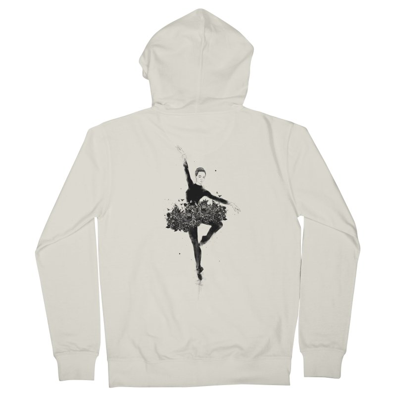 Floral dance Women's French Terry Zip-Up Hoody by Balazs Solti