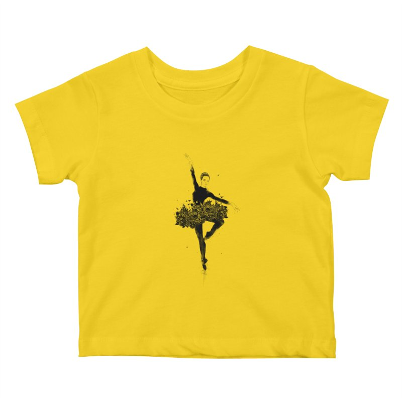 Floral dance Kids Baby T-Shirt by Balazs Solti