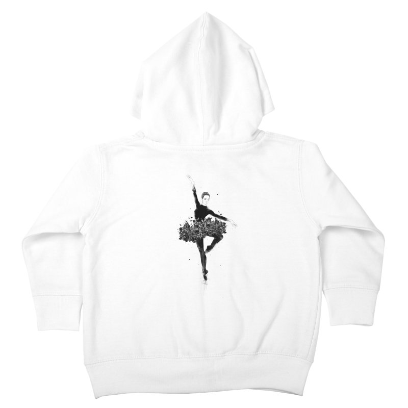 Floral dance Kids Toddler Zip-Up Hoody by Balazs Solti
